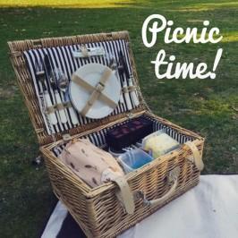Wie wär's mit einem romantischen Picknick? Und dazu ein Picknickkorb