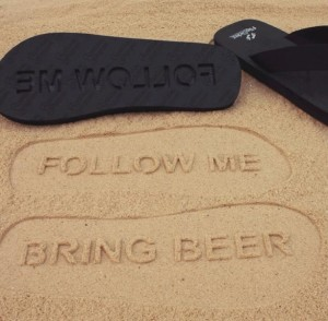 follow me fußabdruck im sand ohphoria.de