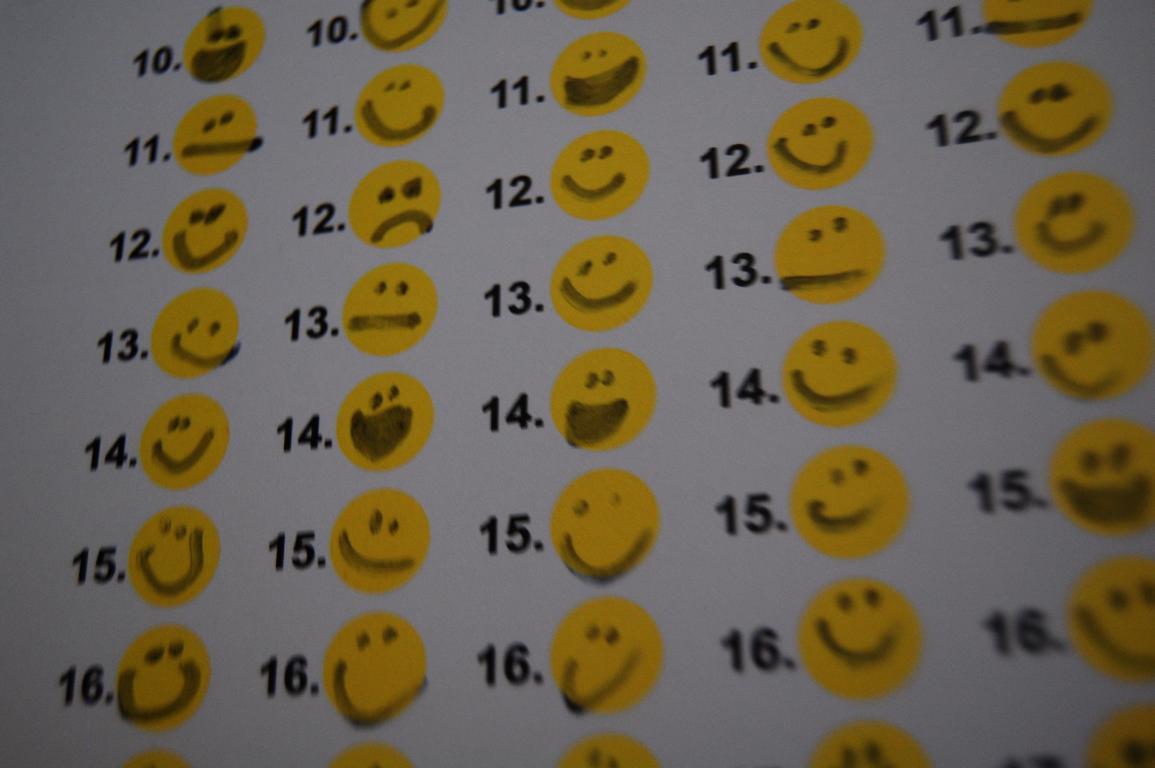 Am Ende des Tage mit dem Smiley-Kalender reflektieren - ohphoria.de