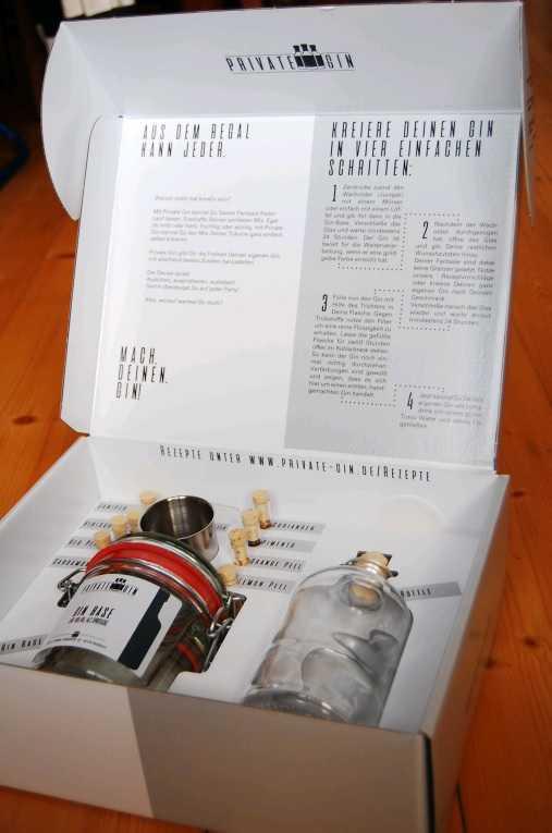 Der Private Gin Baukasten umfasst alles, was man für die eigene Gin Kreation braucht