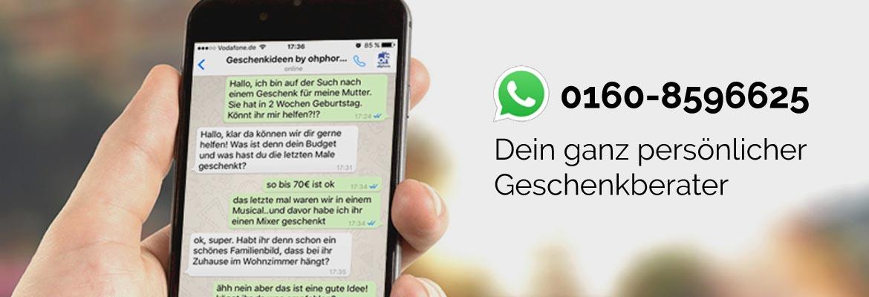 Einfach Geschenke finden mit unserem Whatsapp Geschenkberater