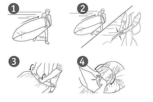 Der Lamzac Hangout Luft-Sitzsack ist super schnell aufgebaut