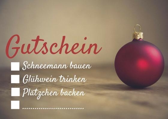 Weihnachtsgutschein Vorlage mit Checkbox Design2
