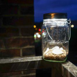 SONNENGLAS, Licht aus dem Einmachglas – Sozial. Umweltfreundlich. Stylish. Individuell.
