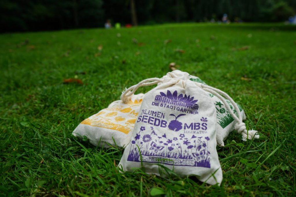 Seedbombs gibt es zum Beispiel für Wildwiese und Sonnenblumen