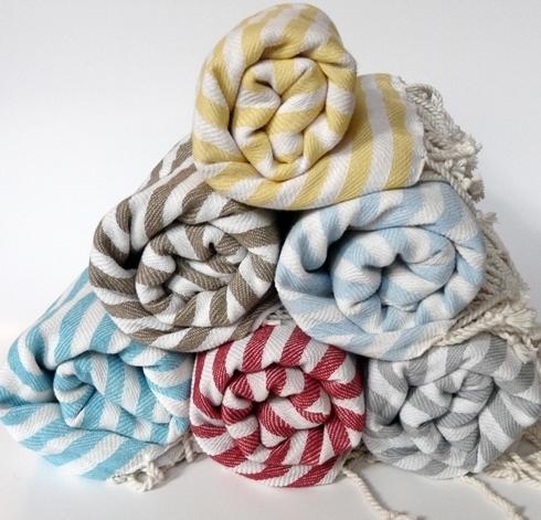Türkische Handtücher liegen derzeit voll im Trend