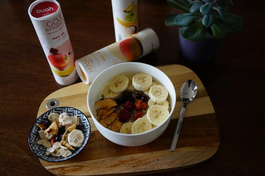 Gefriergetrocknete Früchte sind lecker und crunchy und damit perfekt fürs Müsli