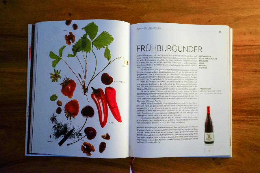 Das Weinbuch überzeugt nicht nur mit Inhalten, sondern ist auch sehr hochwertig aufbereite