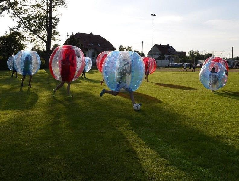 Bubble Soccer ist ein riesen Spaß und eine gute Abwechslung zu klassischem Fußball
