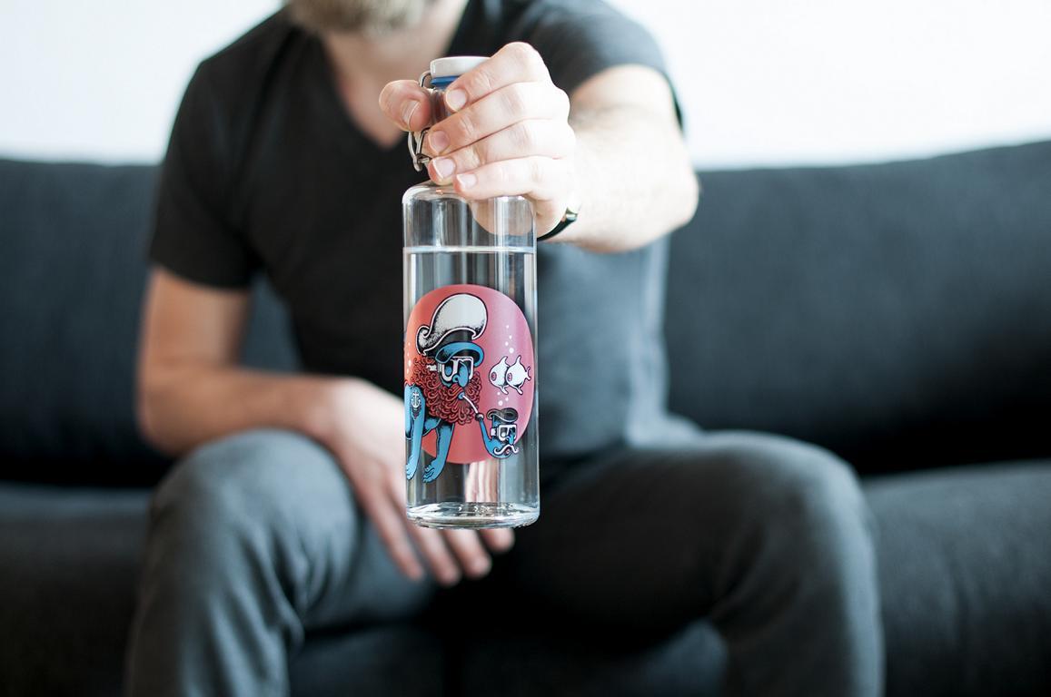 Soulbottels - eine stlylische Glastrinkflasche mit sozialem Mehrwert