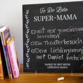 SCHIEFERPLATTE GESCHENK: Zu Muttertag & Co. das Persönliche mit dem Kreativen und Nützlichen verbinden!