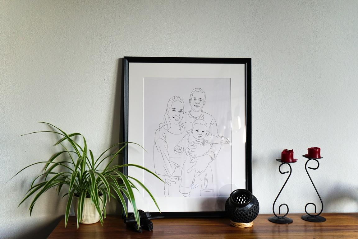Handgezeichnetes Bild – Momente kunstvoll auf das wesentliche reduziert